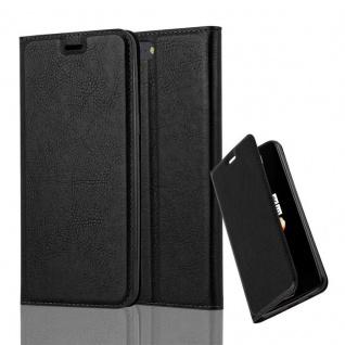 Cadorabo Hülle für OnePlus 5 in NACHT SCHWARZ - Handyhülle mit Magnetverschluss, Standfunktion und Kartenfach - Case Cover Schutzhülle Etui Tasche Book Klapp Style