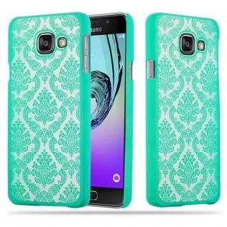 Samsung Galaxy A3 2016 Hardcase Hülle in GRÜN von Cadorabo - Blumen Paisley Henna Design Schutzhülle ? Handyhülle Bumper Back Case Cover