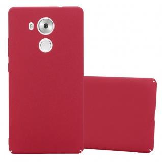 Cadorabo Hülle für Huawei MATE 8 in FROSTY ROT - Hardcase Handyhülle aus Plastik gegen Kratzer und Stöße - Schutzhülle Bumper Ultra Slim Back Case Hard Cover