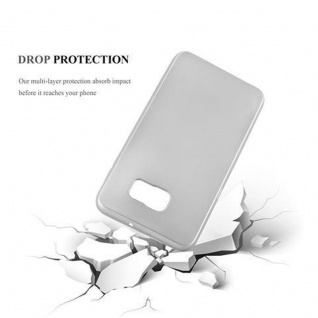 Cadorabo Hülle für Samsung Galaxy S6 EDGE PLUS in METALLIC SILBER - Handyhülle aus flexiblem TPU Silikon - Silikonhülle Schutzhülle Ultra Slim Soft Back Cover Case Bumper - Vorschau 3