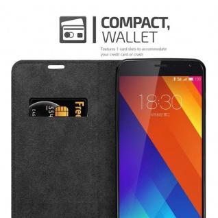 Cadorabo Hülle für MEIZU MX5 in APFEL ROT Handyhülle mit Magnetverschluss, Standfunktion und Kartenfach Case Cover Schutzhülle Etui Tasche Book Klapp Style - Vorschau 4