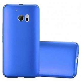 Cadorabo Hülle für HTC 10 (One M10) in METALL BLAU - Hardcase Handyhülle aus Plastik gegen Kratzer und Stöße - Schutzhülle Bumper Ultra Slim Back Case Hard Cover