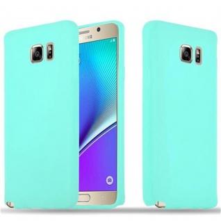 Cadorabo Hülle für Samsung Galaxy NOTE 5 in CANDY BLAU - Handyhülle aus flexiblem TPU Silikon - Silikonhülle Schutzhülle Ultra Slim Soft Back Cover Case Bumper