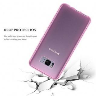 Cadorabo Hülle für Samsung Galaxy S8 in TRANSPARENT PINK - Handyhülle aus flexiblem TPU Silikon - Silikonhülle Schutzhülle Ultra Slim Soft Back Cover Case Bumper - Vorschau 3