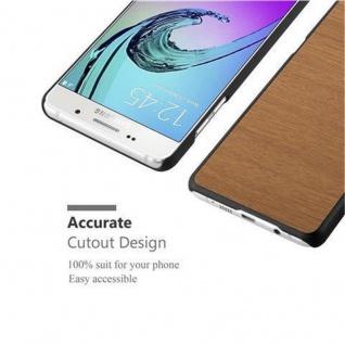 Cadorabo Hülle für Samsung Galaxy A5 2016 in WOODY BRAUN ? Hardcase Handyhülle aus Plastik gegen Kratzer und Stöße ? Schutzhülle Bumper Ultra Slim Back Case Hard Cover - Vorschau 5