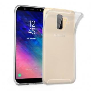 Cadorabo Hülle für Samsung Galaxy A6 PLUS 2018 in VOLL TRANSPARENT - Handyhülle aus flexiblem TPU Silikon - Silikonhülle Schutzhülle Ultra Slim Soft Back Cover Case Bumper