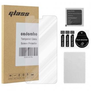 Cadorabo Panzer Folie für Nokia 5.1 Plus - Schutzfolie in KRISTALL KLAR ? Gehärtetes (Tempered) Display-Schutzglas in 9H Härte mit 3D Touch Kompatibilität