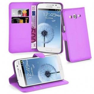Cadorabo Hülle für Samsung Galaxy GRAND 2 in MANGAN VIOLETT - Handyhülle mit Magnetverschluss, Standfunktion und Kartenfach - Case Cover Schutzhülle Etui Tasche Book Klapp Style