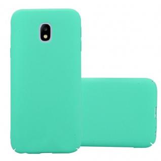 Cadorabo Hülle für Samsung Galaxy J7 2017 in FROSTY GRÜN - Hardcase Handyhülle aus Plastik gegen Kratzer und Stöße - Schutzhülle Bumper Ultra Slim Back Case Hard Cover