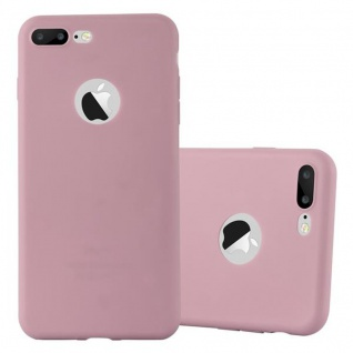 Cadorabo Hülle für Apple iPhone 8 PLUS / 7 PLUS / 7S PLUS in CANDY ROSA Handyhülle aus flexiblem TPU Silikon Silikonhülle Schutzhülle Ultra Slim Soft Back Cover Case Bumper