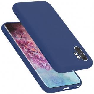 Cadorabo Hülle für Samsung Galaxy NOTE 10 PRO in LIQUID BLAU Handyhülle aus flexiblem TPU Silikon Silikonhülle Schutzhülle Ultra Slim Soft Back Cover Case Bumper
