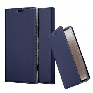 Cadorabo Hülle für Nokia Lumia 1520 in CLASSY DUNKEL BLAU - Handyhülle mit Magnetverschluss, Standfunktion und Kartenfach - Case Cover Schutzhülle Etui Tasche Book Klapp Style