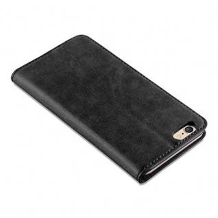 Cadorabo Hülle für Apple iPhone 6 / iPhone 6S in NACHT SCHWARZ - Handyhülle mit Magnetverschluss, Standfunktion und Kartenfach - Case Cover Schutzhülle Etui Tasche Book Klapp Style - Vorschau 5