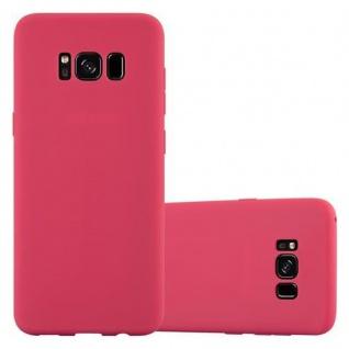 Cadorabo Hülle für Samsung Galaxy S8 in CANDY ROT - Handyhülle aus flexiblem TPU Silikon - Silikonhülle Schutzhülle Ultra Slim Soft Back Cover Case Bumper