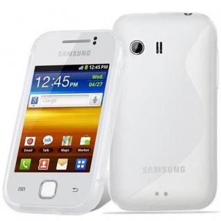 Cadorabo Hülle für Samsung Galaxy Y in HALB TRANSPARENT - Handyhülle aus flexiblem TPU Silikon - Silikonhülle Schutzhülle Ultra Slim Soft Back Cover Case Bumper