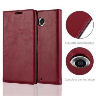 Cadorabo Hülle für Lenovo Google NEXUS 6 / 6X in APFEL ROT - Handyhülle mit Magnetverschluss, Standfunktion und Kartenfach - Case Cover Schutzhülle Etui Tasche Book Klapp Style - Vorschau 2