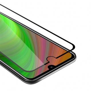 Cadorabo Vollbild Panzer Folie für Nokia 2.2 - Schutzfolie in TRANSPARENT mit SCHWARZ - Gehärtetes (Tempered) Display-Schutzglas in 9H Härte mit 3D Touch Kompatibilität