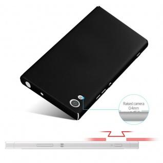 Cadorabo Hülle für Sony Xperia XA1 in METALL SCHWARZ - Hardcase Handyhülle aus Plastik gegen Kratzer und Stöße - Schutzhülle Bumper Ultra Slim Back Case Hard Cover - Vorschau 4