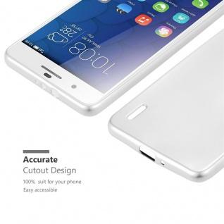 Cadorabo Hülle für Honor 6 PLUS in METALLIC SILBER - Handyhülle aus flexiblem TPU Silikon - Silikonhülle Schutzhülle Ultra Slim Soft Back Cover Case Bumper - Vorschau 5