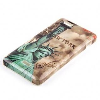Cadorabo - Hard Cover für Sony Xperia M - Case Cover Schutzhülle Bumper im Design: NEW YORK - FREIHEITSSTATUE - Vorschau 2