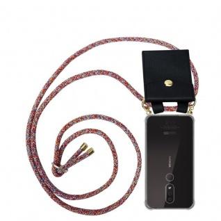 Cadorabo Handy Kette für Nokia 4.2 in COLORFUL PARROT - Silikon Necklace Umhänge Hülle mit Gold Ringen, Kordel Band Schnur und abnehmbarem Etui ? Schutzhülle