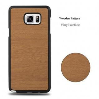 Cadorabo Hülle für Samsung Galaxy NOTE 5 in WOODY BRAUN ? Hardcase Handyhülle aus Plastik gegen Kratzer und Stöße ? Schutzhülle Bumper Ultra Slim Back Case Hard Cover - Vorschau 4