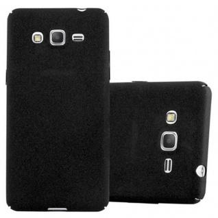 Cadorabo Hülle für Samsung Galaxy GRAND PRIME in FROSTY SCHWARZ - Hardcase Handyhülle aus Plastik gegen Kratzer und Stöße - Schutzhülle Bumper Ultra Slim Back Case Hard Cover
