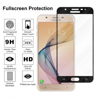 Cadorabo Vollbild Panzer Folie für Samsung Galaxy J7 PRIME / ON7 2016 - Schutzfolie in TRANSPARENT mit SCHWARZ - Gehärtetes (Tempered) Display-Schutzglas in 9H Härte mit 3D Touch Kompatibilität - Vorschau 4