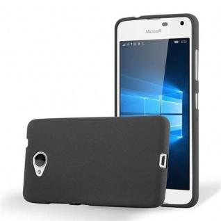 Cadorabo Hülle für Nokia Lumia 650 in FROST SCHWARZ - Handyhülle aus flexiblem TPU Silikon - Silikonhülle Schutzhülle Ultra Slim Soft Back Cover Case Bumper