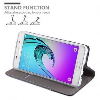 Cadorabo Hülle für Samsung Galaxy A3 2016 in DUNKEL BLAU SCHWARZ - Handyhülle mit Magnetverschluss, Standfunktion und Kartenfach - Case Cover Schutzhülle Etui Tasche Book Klapp Style - Vorschau 3