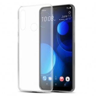 Cadorabo Hülle für HTC Desire 19+ in VOLL TRANSPARENT - Handyhülle aus flexiblem TPU Silikon - Silikonhülle Schutzhülle Ultra Slim Soft Back Cover Case Bumper