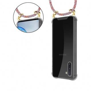 Cadorabo Handy Kette für Samsung Galaxy NOTE 10 in COLORFUL PARROT - Silikon Necklace Umhänge Hülle mit Gold Ringen, Kordel Band Schnur und abnehmbarem Etui ? Schutzhülle - Vorschau 5