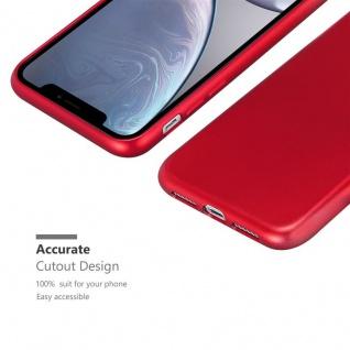 Cadorabo Hülle für Apple iPhone XR in METALLIC ROT - Handyhülle aus flexiblem TPU Silikon - Silikonhülle Schutzhülle Ultra Slim Soft Back Cover Case Bumper - Vorschau 5