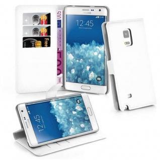 Cadorabo Hülle für Samsung Galaxy NOTE EDGE in ARKTIS WEIß Handyhülle mit Magnetverschluss, Standfunktion und Kartenfach Case Cover Schutzhülle Etui Tasche Book Klapp Style