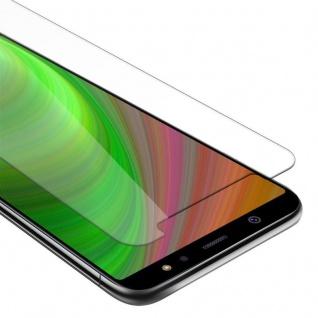 Cadorabo Panzer Folie für Samsung Galaxy A6 PLUS 2018 - Schutzfolie in KRISTALL KLAR - Gehärtetes (Tempered) Display-Schutzglas in 9H Härte mit 3D Touch Kompatibilität