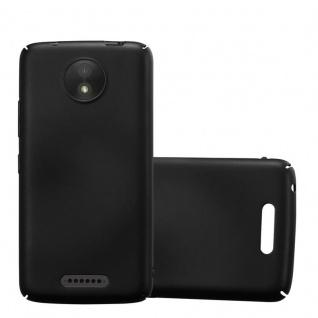Cadorabo Hülle für Motorola MOTO C in METALL SCHWARZ - Hardcase Handyhülle aus Plastik gegen Kratzer und Stöße - Schutzhülle Bumper Ultra Slim Back Case Hard Cover
