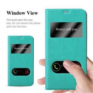 Cadorabo Hülle für LG G6 in MINT TÜRKIS ? Handyhülle mit Magnetverschluss, Standfunktion und 2 Sichtfenstern ? Case Cover Schutzhülle Etui Tasche Book Klapp Style - Vorschau 2