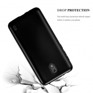 Cadorabo Hülle für Nokia 2 2017 in METALLIC SCHWARZ - Handyhülle aus flexiblem TPU Silikon - Silikonhülle Schutzhülle Ultra Slim Soft Back Cover Case Bumper - Vorschau 3