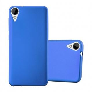Cadorabo Hülle für HTC 10 LIFESTYLE / DESIRE 825 in METALLIC BLAU Handyhülle aus flexiblem TPU Silikon Silikonhülle Schutzhülle Ultra Slim Soft Back Cover Case Bumper