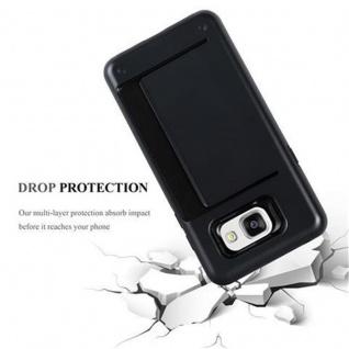 Cadorabo Hülle für Samsung Galaxy A3 2016 - Hülle in ARMOR SCHWARZ ? Handyhülle mit Kartenfach - Hard Case TPU Silikon Schutzhülle für Hybrid Cover im Outdoor Heavy Duty Design - Vorschau 3