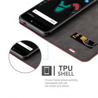 Cadorabo Hülle für WIKO UPULSE LITE in APFEL ROT Handyhülle mit Magnetverschluss, Standfunktion und Kartenfach Case Cover Schutzhülle Etui Tasche Book Klapp Style - Vorschau 2