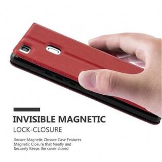 Cadorabo Hülle für Huawei P9 LITE in SAFRAN ROT - Handyhülle mit Magnetverschluss, Standfunktion und 2 Sichtfenstern - Case Cover Schutzhülle Etui Tasche Book Klapp Style - Vorschau 5