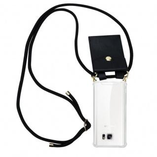 Cadorabo Handy Kette für Samsung Galaxy NOTE 5 in SCHWARZ ? Silikon Necklace Umhänge Hülle mit Gold Ringen, Kordel Band Schnur und abnehmbarem Etui ? Schutzhülle
