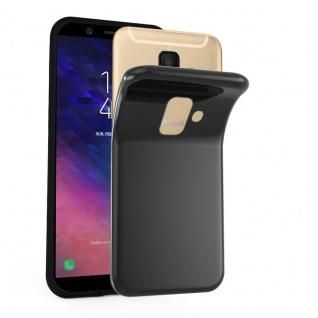 Cadorabo Hülle für Samsung Galaxy A6 2018 in SCHWARZ - Handyhülle aus flexiblem TPU Silikon - Silikonhülle Schutzhülle Ultra Slim Soft Back Cover Case Bumper