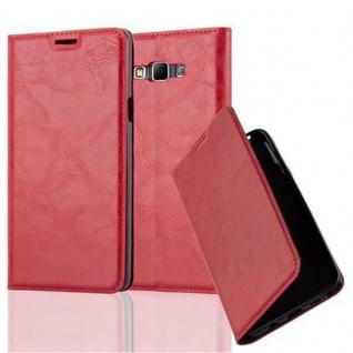 Cadorabo Hülle für Samsung Galaxy A7 2015 in APFEL ROT - Handyhülle mit Magnetverschluss, Standfunktion und Kartenfach - Case Cover Schutzhülle Etui Tasche Book Klapp Style