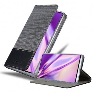 Cadorabo Hülle für Samsung Galaxy NOTE 10 in GRAU SCHWARZ Handyhülle mit Magnetverschluss, Standfunktion und Kartenfach Case Cover Schutzhülle Etui Tasche Book Klapp Style