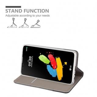 Cadorabo Hülle für LG STYLUS 2 in GRAU SCHWARZ - Handyhülle mit Magnetverschluss, Standfunktion und Kartenfach - Case Cover Schutzhülle Etui Tasche Book Klapp Style - Vorschau 3