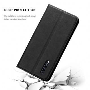 Cadorabo Hülle für Samsung Galaxy A70 in NACHT SCHWARZ - Handyhülle mit Magnetverschluss, Standfunktion und Kartenfach - Case Cover Schutzhülle Etui Tasche Book Klapp Style - Vorschau 5