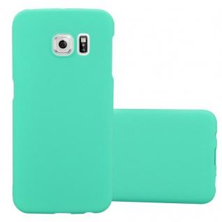 Cadorabo Hülle für Samsung Galaxy S6 EDGE in FROSTY GRÜN - Hardcase Handyhülle aus Plastik gegen Kratzer und Stöße - Schutzhülle Bumper Ultra Slim Back Case Hard Cover