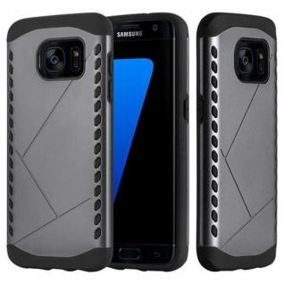 Cadorabo Hülle für Samsung Galaxy S7 EDGE - Hülle in GUARDIAN GRAU ? Hard Case TPU Silikon Schutzhülle für Hybrid Cover im Outdoor Heavy Duty Design